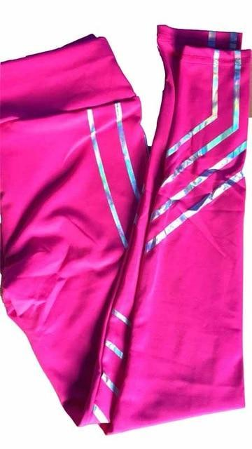 SportsLeggings Voor Training - Fitness - Roze / L - Sportleggings