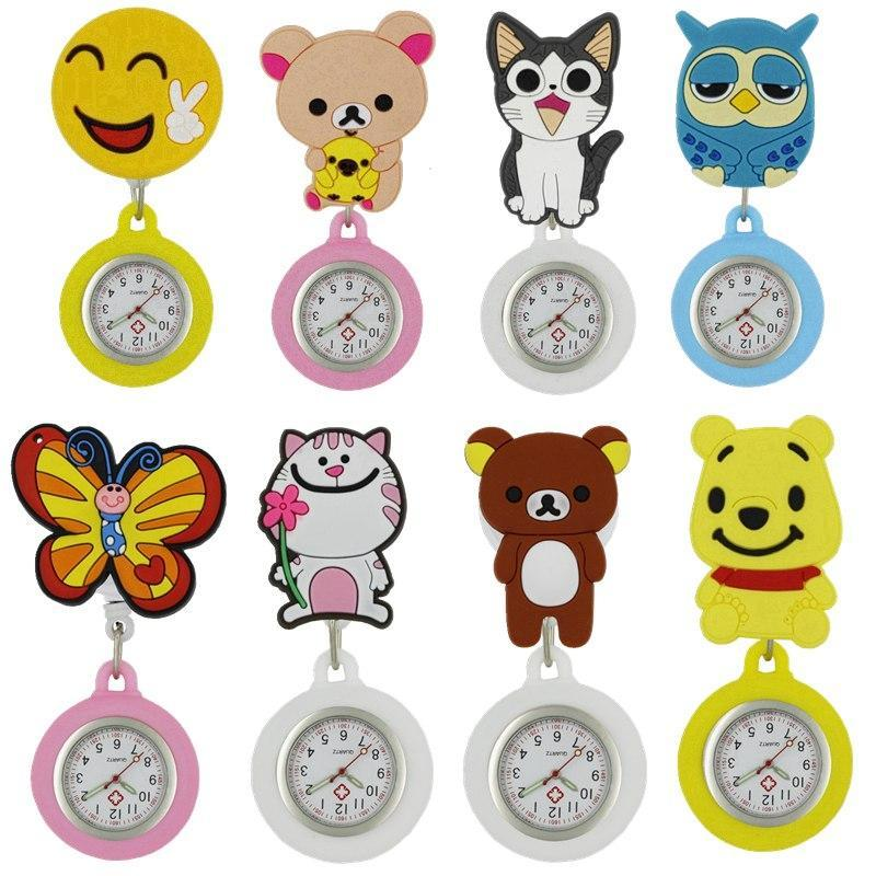Quartz Verpleegstershorloge Clip-on Broche - Cartoons - Verpleegstershorloge