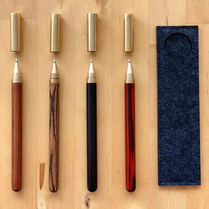 Copper Cap Finepoint Pen with Felt Cover