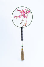 Load image into Gallery viewer, Chinese Traditional Embroidered Hand Fan-'Pink Blossom' - jindesignsuk