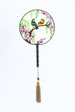 Load image into Gallery viewer, Chinese Traditional Embroidered Hand Fan - 'Soulmate 伴侣' - jindesignsuk
