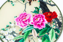 Load image into Gallery viewer, Chinese Traditional Embroidered Hand Fan-'Pink Peony and magpie' - jindesignsuk