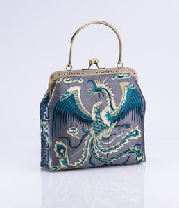 Traditional Embroidered Bag with Phoenix detail - jindesignsuk