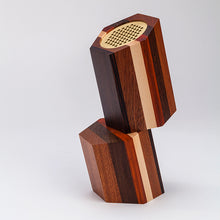 "Load image into Gallery viewer, ""MUDU 木读 "" Stacked Wooden Speakers - jindesignsuk"