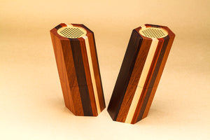 """MUDU 木读 "" Stacked Wooden Speakers - jindesignsuk"