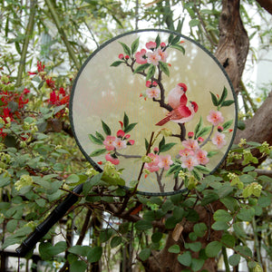 Lovebirds 爱情鸟 Embroidered Hand Fan