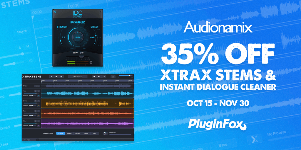 Audionamix Black Friday Sale - Oct 15 - Nov 30