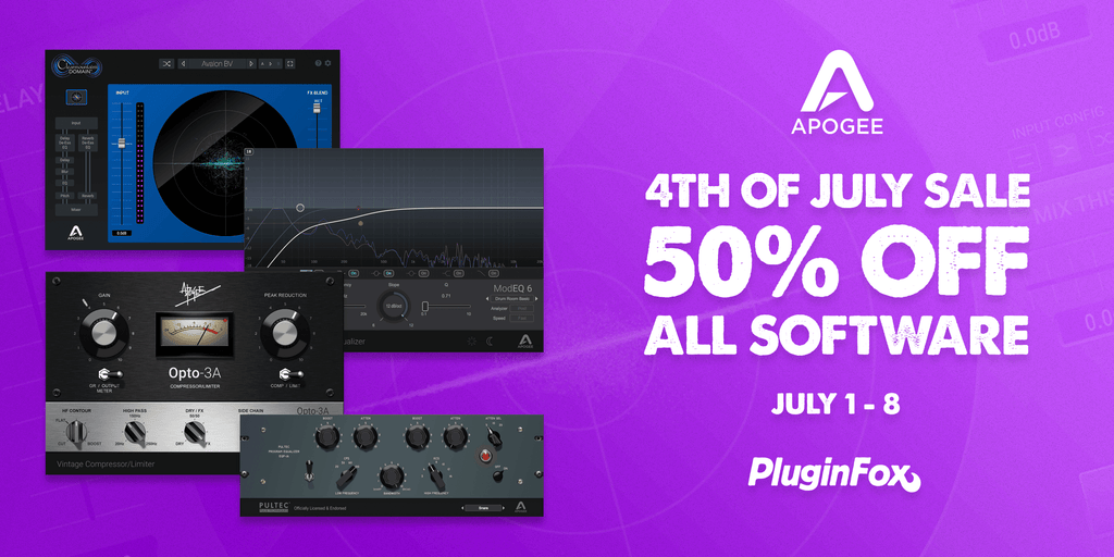 Apogee 4th of July Sale - July 1-8