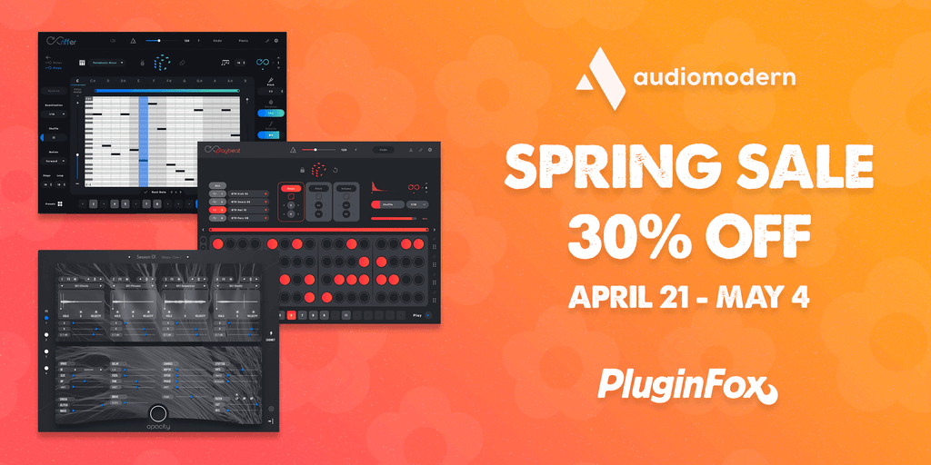 Audiomodern Spring Sale April 21 - May 4