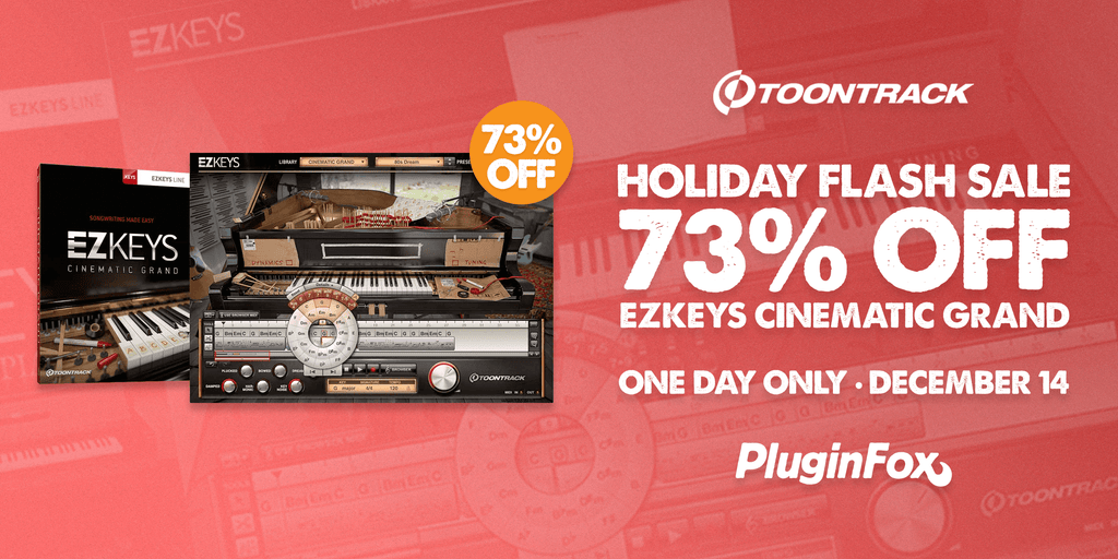 Toontrack Holiday Flash Sale - December 14th