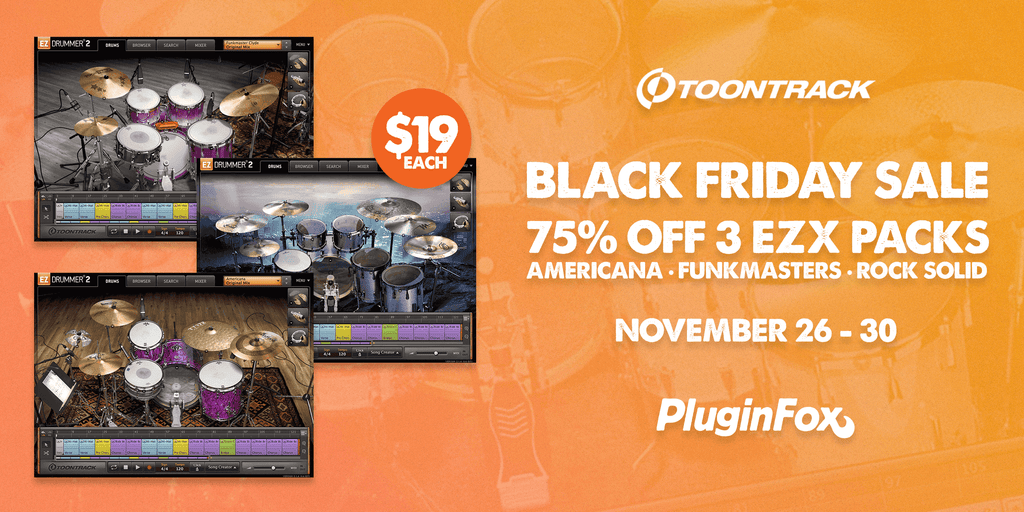 Toontrack Black Friday Sale - Nov 26-30