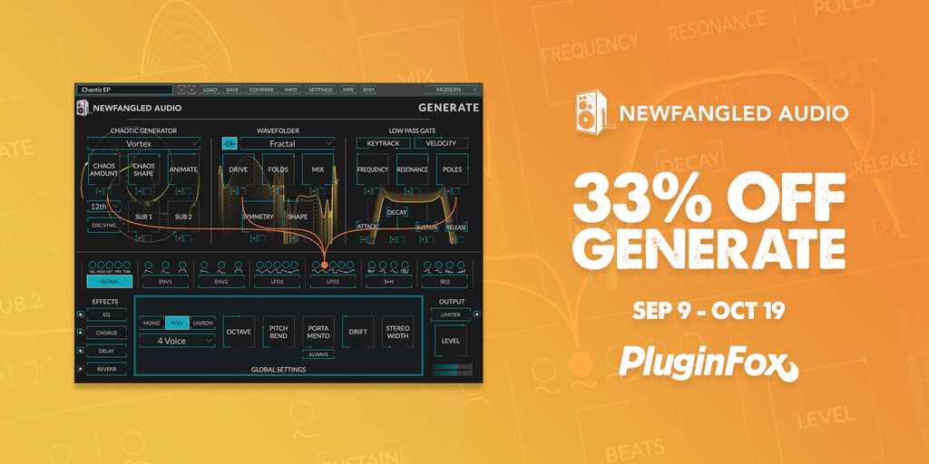 Newfangled Audio Generate Launch Sale - Sep 9 - Oct 19