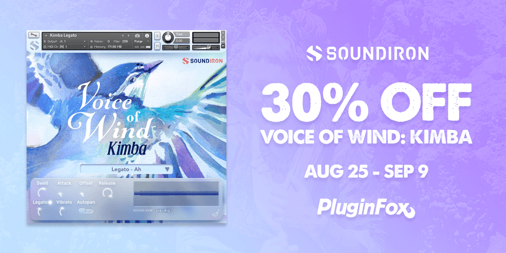 Soundiron Voice of Wind Kimba Sale - Aug 25 - Sept 8