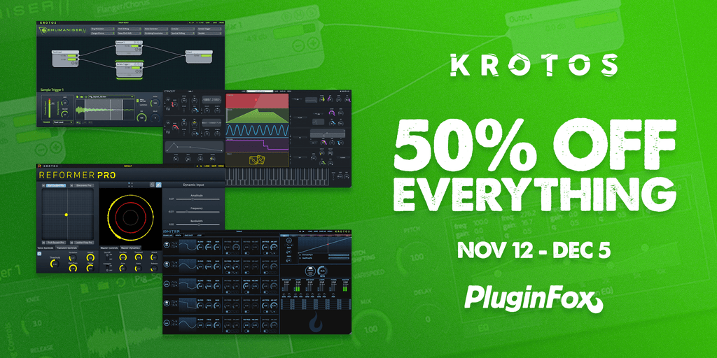 Krotos Black Friday Sale - Nov 12 - Dec 5