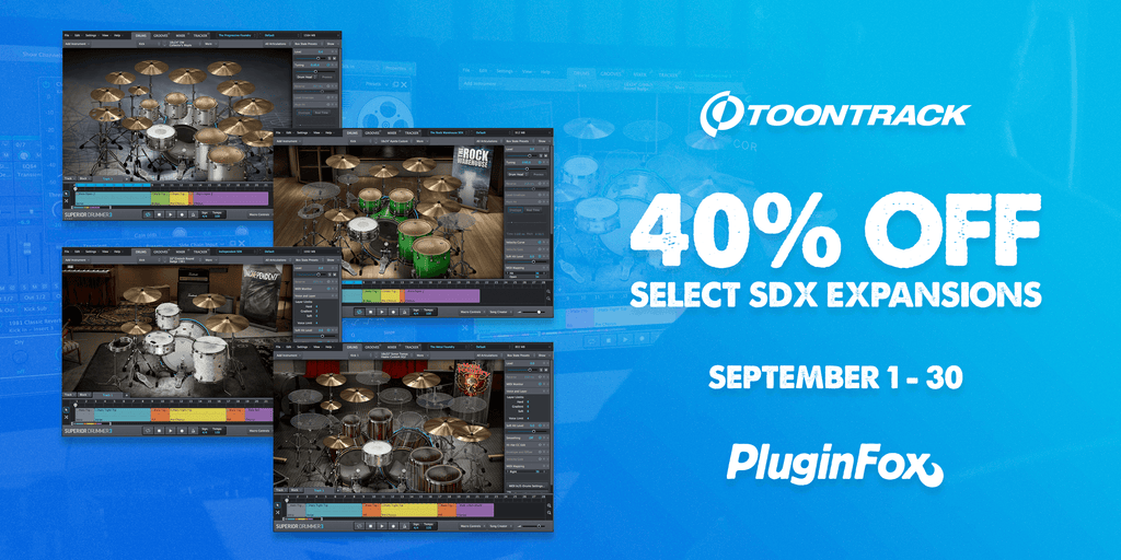 Toontrack SDX Expansion Sale - Sept 1-30