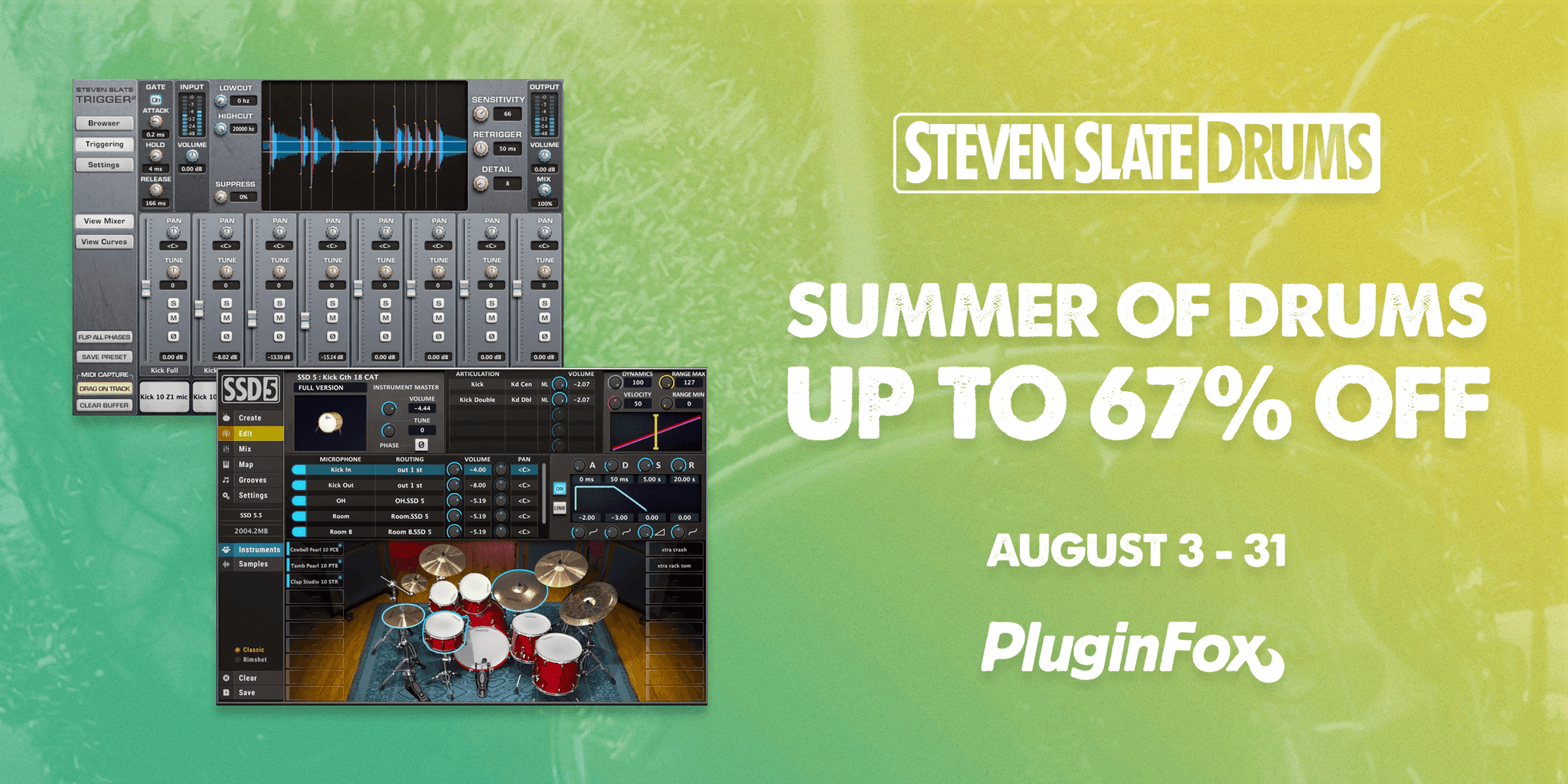 Slate Summer of Drums Sale - Aug 3-31