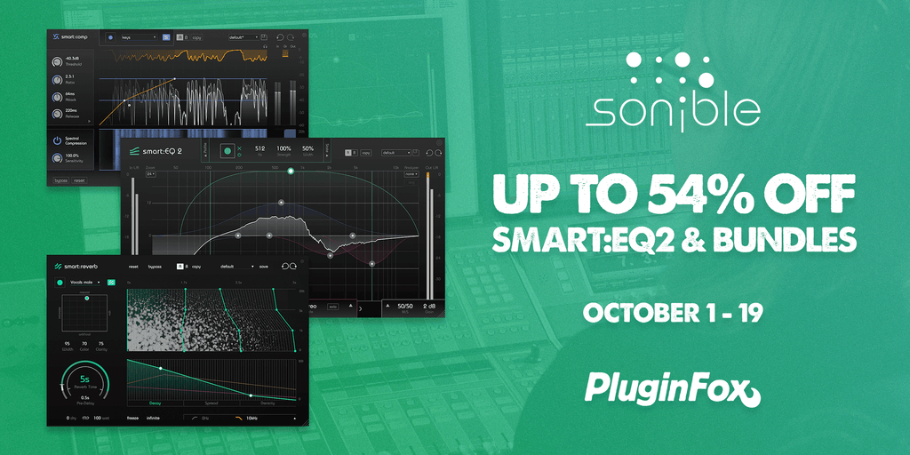 Sonible SmartEQ2 Sale - October 1-19