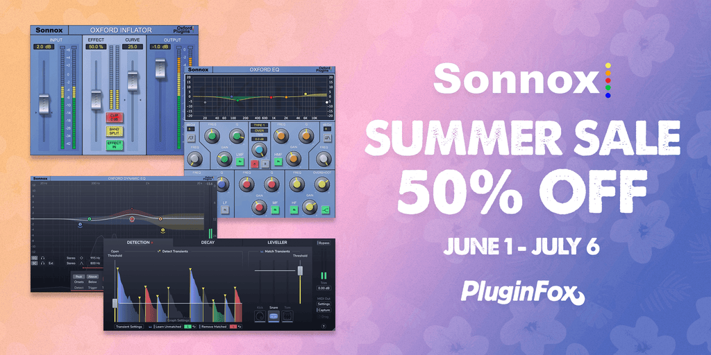 Sonnox Summer Sale June 1 - July 6