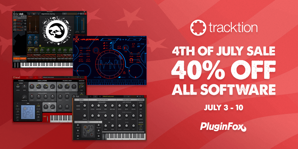 Tracktion 4th of July Sale - July 3-10