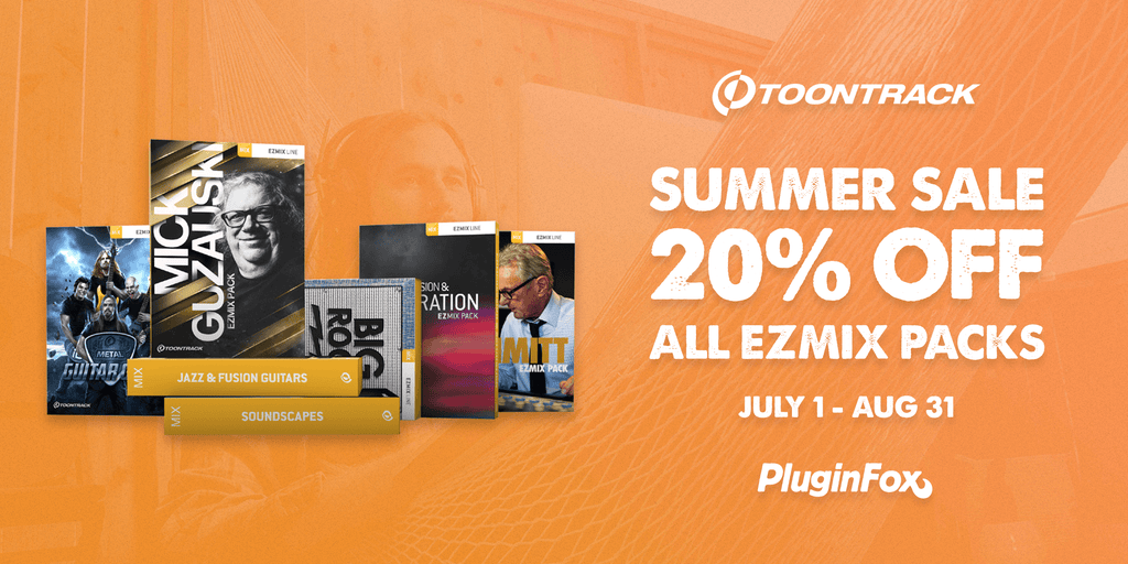 Toontrack Summer Sale - July 1 - Aug 31