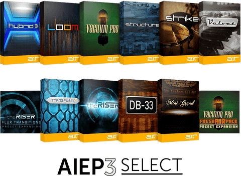 AIR Instrument Expansion Pack 3 Select Plugins PluginFox