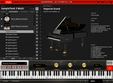 IK Multimedia Alan Parsons Imperial Grand Piano Virtual Instruments PluginFox