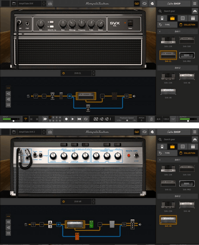 IK Multimedia AmpliTube SVX 1 and 2 Bundle