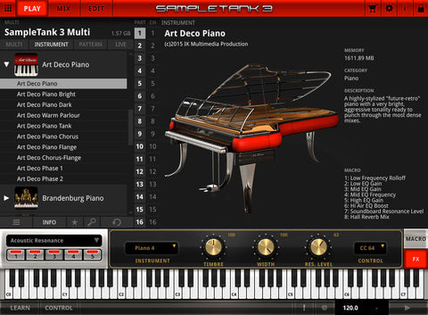 IK Multimedia Art Deco Piano Virtual Instruments PluginFox