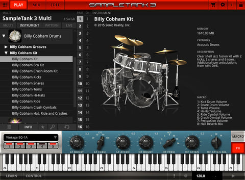 IK Multimedia Billy Cobham Drums Virtual Instruments PluginFox