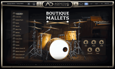 XLN Audio ADpak: Boutique Mallets