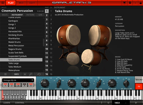 IK Multimedia Cinematic Percussion Virtual Instruments PluginFox