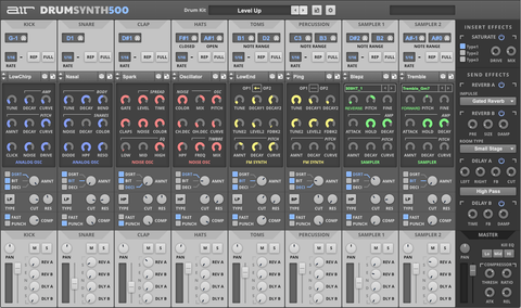 AIR Drum Synth 500 Virtual Instruments PluginFox