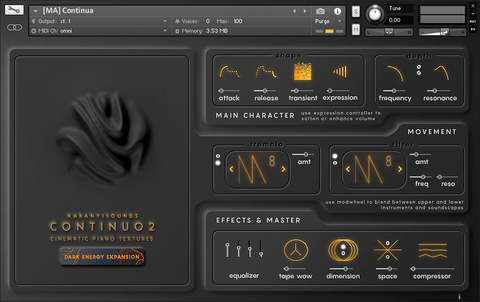 Karanyi Sounds Dark Energy Expansion for Continuo 2