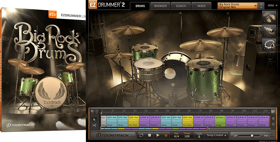 Toontrack EZX: Big Rock Drums