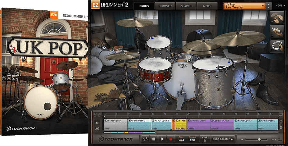 Toontrack EZX: UK Pop