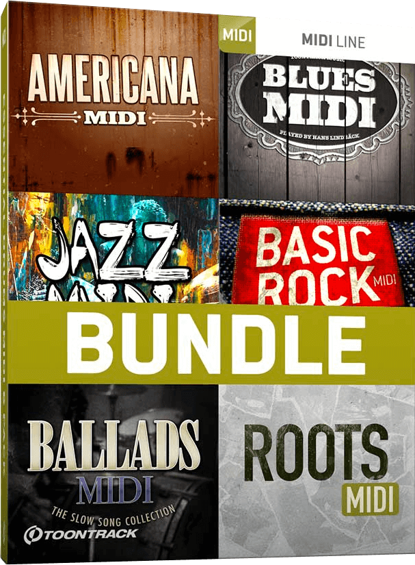 Toontrack Drum MIDI: Essential Drums 6 Pack