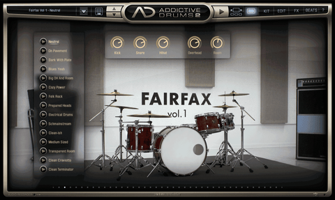 XLN Audio ADpak: Fairfax Vol 1