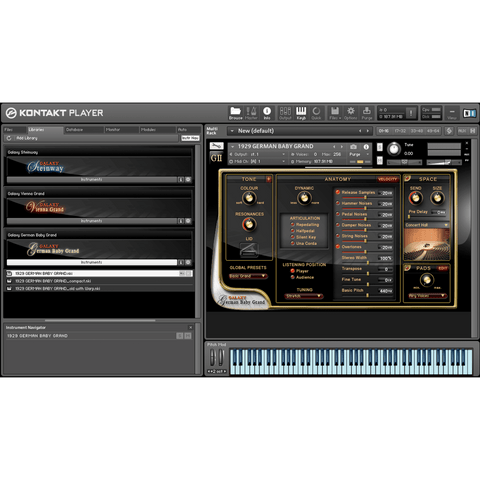 Best Service Galaxy II German Baby Grand Kontakt Libraries PluginFox