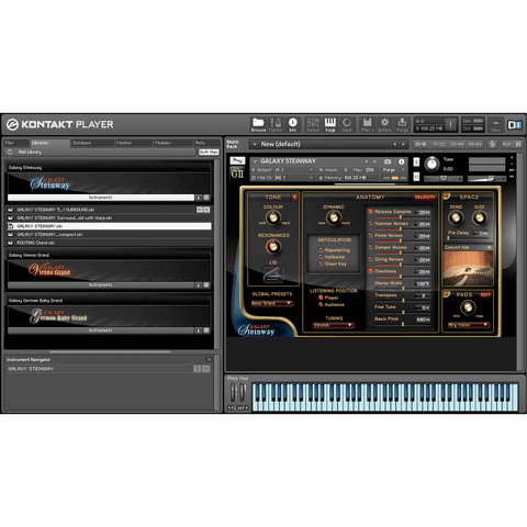 Best Service Galaxy II Steinway Kontakt Libraries PluginFox
