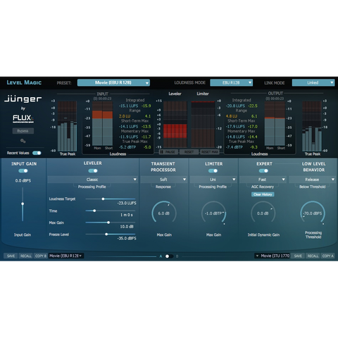 Flux Junger Audio Level Magic Multichannel Plugins PluginFox