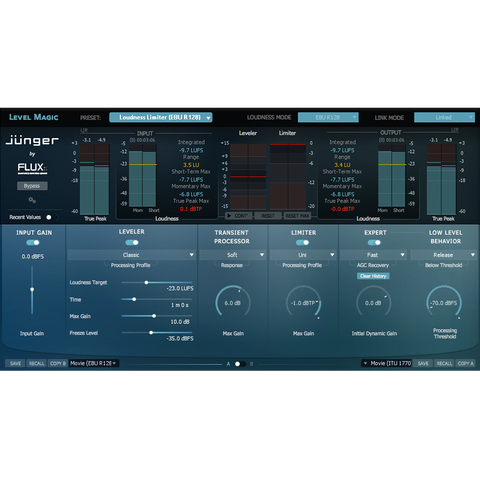 Flux Junger Audio Level Magic Stereo Plugins PluginFox