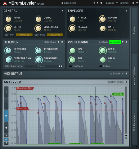 MeldaProduction MDrumLeveler Plugins PluginFox