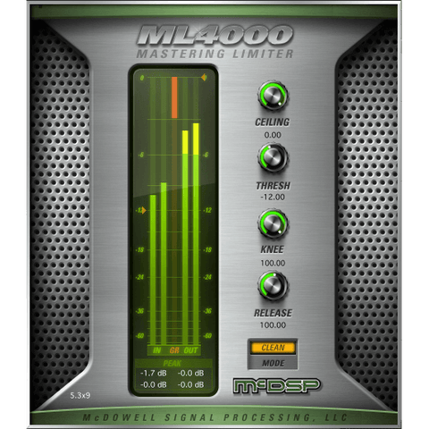 McDSP ML4000 Mastering Limiter Native Plugins PluginFox