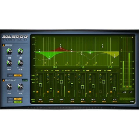 McDSP ML8000 Advanced Limiter Native Plugins PluginFox