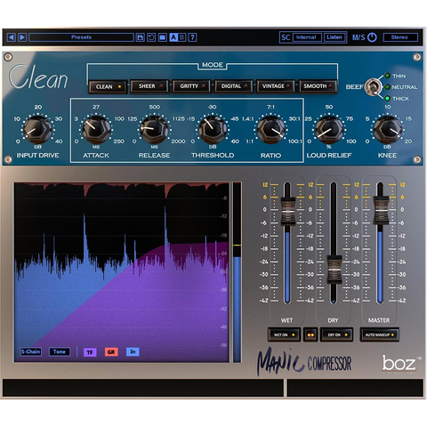 Boz Digital Labs Manic Compressor Plugins PluginFox