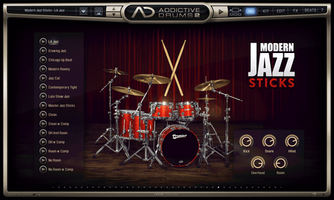 XLN Audio ADpak: Modern Jazz - Sticks