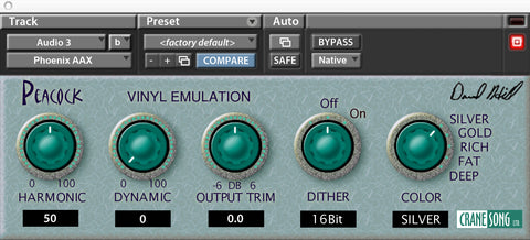 Crane Song Peacock Plugins PluginFox