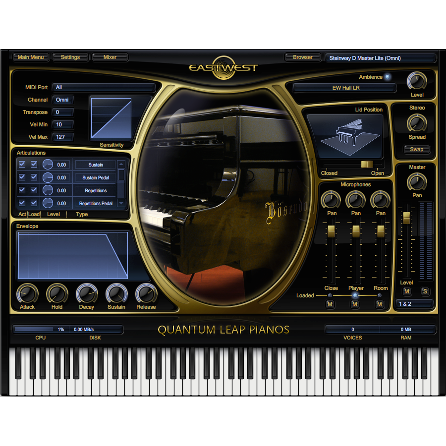 EastWest Pianos Steinway D Platinum Edition Virtual Instruments PluginFox