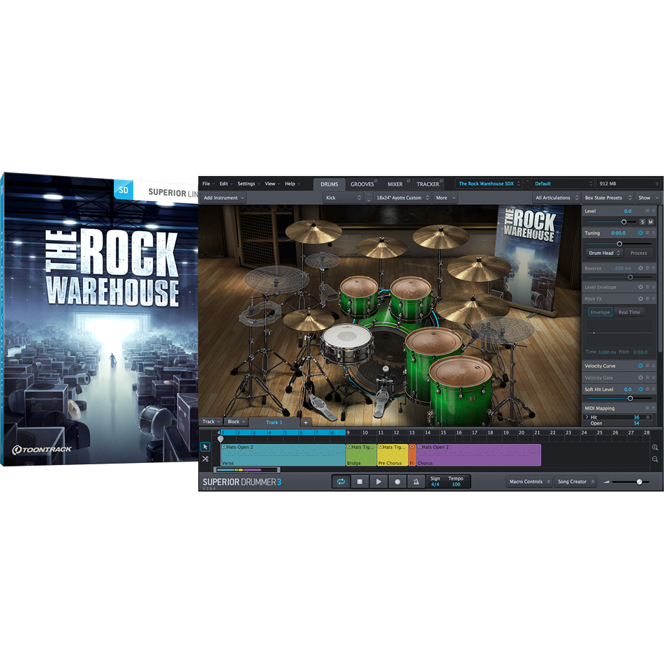 Toontrack SDX: The Rock Warehouse - PluginFox