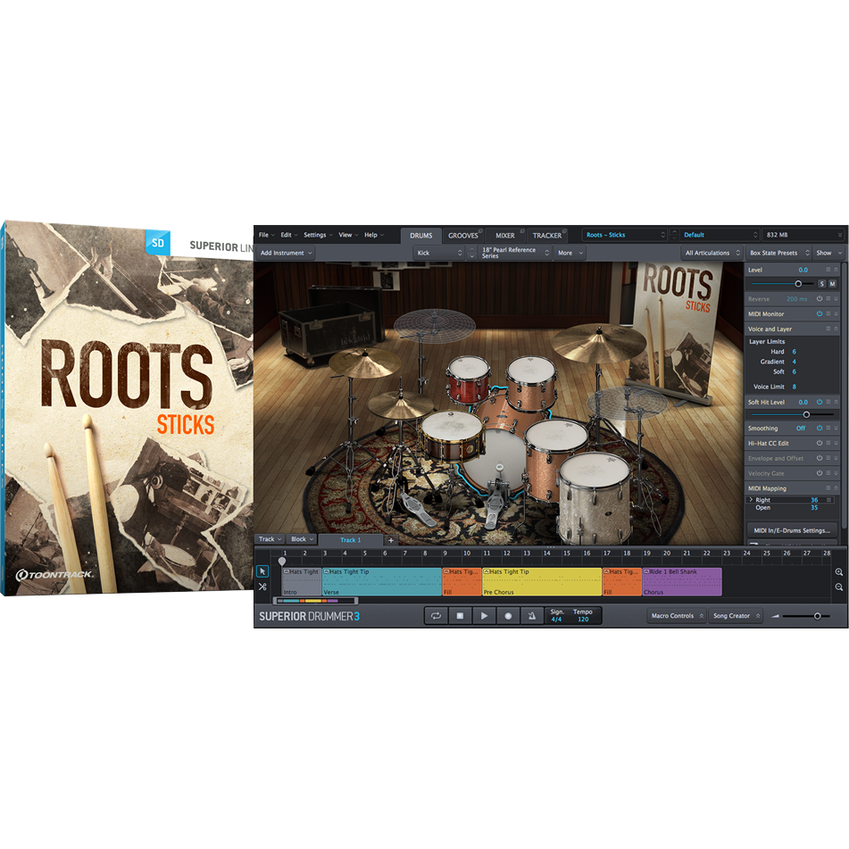 Toontrack SDX: Roots - Sticks - PluginFox